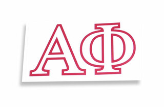 alpha phi letter stickers