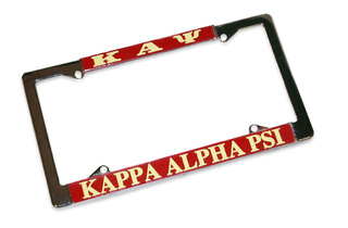 Kappa Alpha Psi Metal License Plate Frame