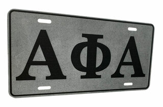 Fraternity Metal License Tags