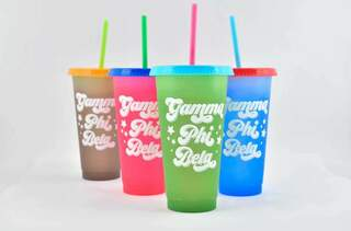 Gamma Phi Beta Color Changing Cups (Set of 4)