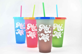 Phi Mu Color Changing Cups (Set of 4)