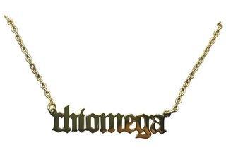 Chi Omega Old English Necklaces
