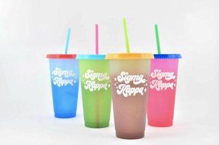 Sigma Kappa Color Changing Cups (Set of 4)