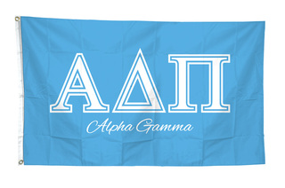 Sorority Custom Line Script Flag