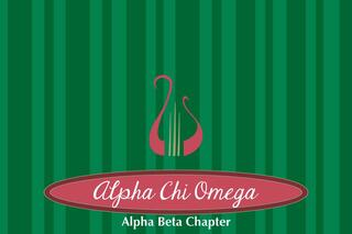 Alpha Chi Omega Mascot Tablecloth