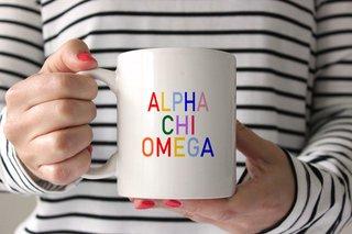 Alpha Chi Omega Rainbow Coffee Mug