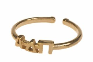 Alpha Delta Pi Adjustable Letter Ring