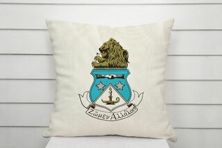 Alpha Delta Pi Linen Crest - Shield Pillow