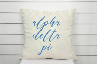 Alpha Delta Pi Script Pillow