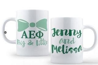 Alpha Epsilon Phi Big & Little Coffee Mug