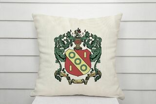 Alpha Gamma Delta Linen Crest - Shield Pillow