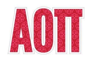 """Alpha Omicron Pi Mascot Greek Letter Sticker - 2.5"""" Tall"""