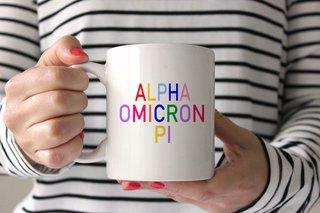 Alpha Omicron Pi Rainbow Coffee Mug
