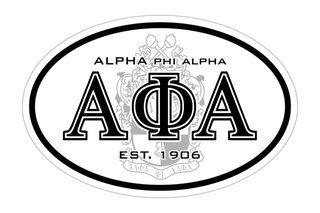 Alpha Phi Alpha Oval Crest - Shield Bumper Sticker - CLOSEOUT