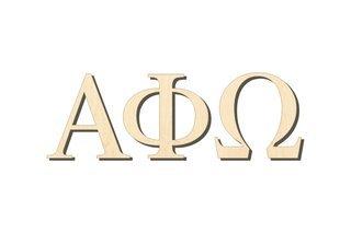 Alpha Phi Omega Big Wooden Greek Letters