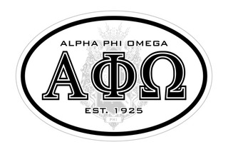 Alpha Phi Omega Oval Crest - Shield Bumper Sticker