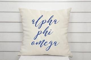 Alpha Phi Omega Script Pillow