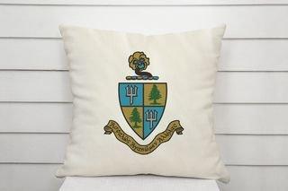 Delta Delta Delta Linen Crest - Shield Pillow