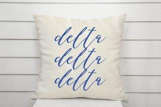 Delta Delta Delta Script Pillow