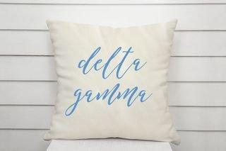 Delta Gamma Script Pillow