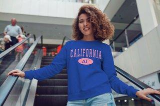 Delta Gamma State Crewneck Sweatshirt