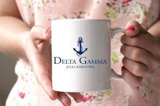 Delta Gamma White Mascot Coffee Mug