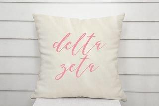 Delta Zeta Script Pillow