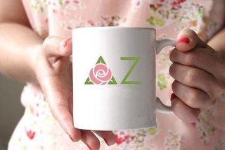 Delta Zeta White Mascot Coffee Mug - Personalized!