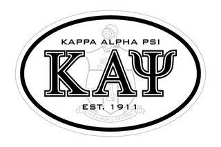 Kappa Alpha Psi Oval Crest - Shield Bumper Sticker - CLOSEOUT