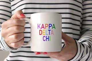 Kappa Delta Chi Rainbow Coffee Mug