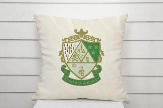 Kappa Delta Linen Crest - Shield Pillow