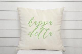 Kappa Delta Script Pillow