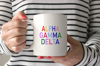 Alpha Gamma Delta Rainbow Coffee Mug