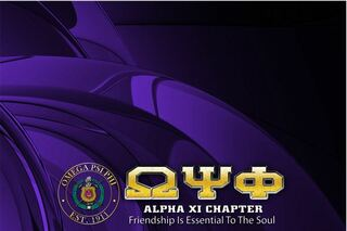 Omega Psi Phi Tablecloth