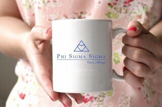 Phi Sigma Sigma White Mascot Coffee Mug - Personalized!