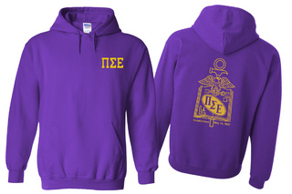 Pi Sigma Epsilon World Famous Crest - Shield Hooded Sweatshirt- $35!