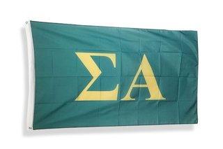 Sigma Alpha Big Greek Letter Flag