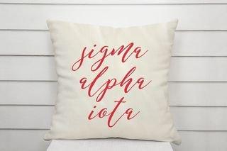 Sigma Alpha Iota Script Pillow