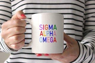 Sigma Alpha Omega Rainbow Coffee Mug