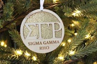 Sigma Gamma Rho Gliter Ornament