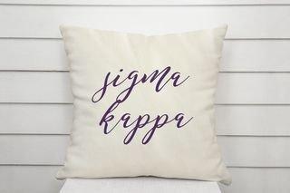 Sigma Kappa Script Pillow