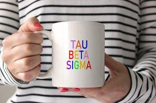 Tau Beta Sigma Rainbow Coffee Mug