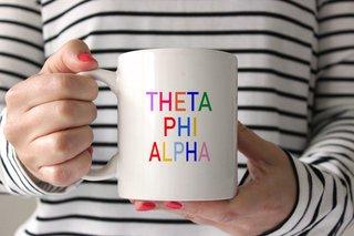 Theta Phi Alpha Rainbow Coffee Mug