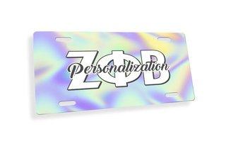 Zeta Phi Beta Holla License Plate