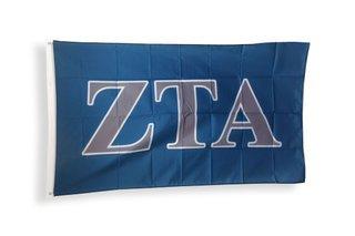 Zeta Tau Alpha Big Greek Letter Flag