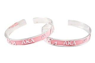 Alpha Kappa Alpha Bangle Bracelet
