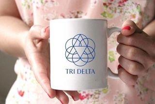 Delta Delta Delta White Mascot Coffee Mug - Personalized!