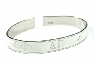 Delta Gamma White Bangle