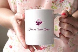 Gamma Sigma Sigma White Mascot Coffee Mug - Personalized!