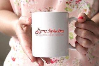 Sigma Alpha Iota White Mascot Coffee Mug